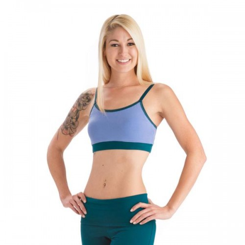 Strength Reversible Sports Bra - Dark Teal and Periwinkle