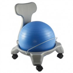 """Plastic Mobile Ball Chair with Back-14"""" Ball"""