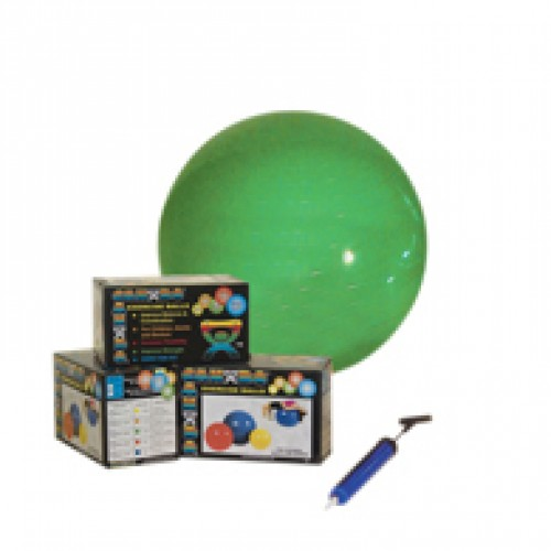 "22"" Inflatable Exercise Ball w/ Pump-Orange-Retail Box"