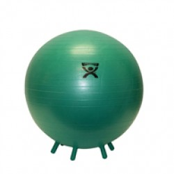 Inflatable Exercise Ball with Stability Feet-Green-26""
